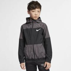 (セール)NIKE(ナイキ)ジュニアスポーツウェア ウインドジャケット ナイキ YTH ウーブン ジャケット AQ9489-010 ボーイズ ブラック/サンダーグレー/(ホワイト)