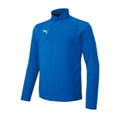 PUMA(プーマ)サッカー ジュニアウインド LIGA トレーニング 1/4 ジップトッフ 65586402 ボーイズ エレクトリック ブルー レモネード/プーマ ホワイト