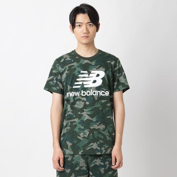 841e404888f24 セール)New Balance(ニューバランス)メンズスポーツウェア 半袖シャツ エッセンシャルスタックド