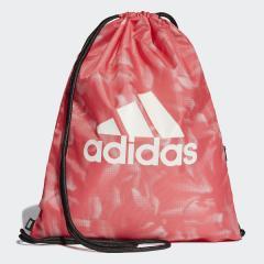 (セール)adidas(アディダス)スポーツアクセサリー ナップサック ビッグロゴジムバッグ G FSX23 DT8669 プリズムピンク F13/ブラック/ホワイト