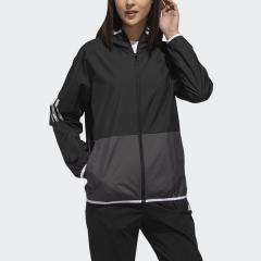 (セール)adidas(アディダス)レディーススポーツウェア ウインドアップジャケット W S2S カラーブロックウィンドブレーカーフーディージャケット FTK38 DV0771 レディース ブラック/グレーシックスS19