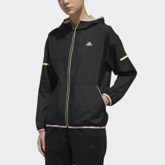 (セール)adidas(アディダス)レディーススポーツウェア ウインドアップジャケット W TEAM ウィンドブレーカーフーディージャケット FTK58 DV0657 レディース ブラック