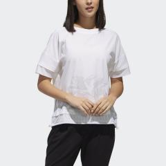 (セール)adidas(アディダス)レディーススポーツウェア ワークアウトTシャツ TOPS W M4T ファブリックミックスTシャツ FTF48 DV2204 レディース ホワイト