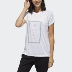 (セール)adidas(アディダス)レディーススポーツウェア ワークアウトTシャツ TOPS W M4T メッセージプリントTシャツ FTF46 DV2210 レディース ホワイト