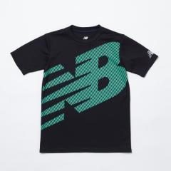 (セール)New Balance(ニューバランス)ジュニアスポーツウェア Tシャツ スーパービッグロゴ Tシャツ JJTP9235BK ボーイズ ブラック
