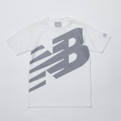 (セール)New Balance(ニューバランス)ジュニアスポーツウェア Tシャツ スーパービッグロゴ Tシャツ JJTP9235WT ボーイズ ホワイト