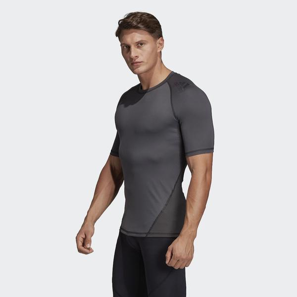 (セール)adidas(アディダス)メンズスポーツウェア コンプレッション半袖 ALPHASKIN TEAM ショートスリーブTシャツ EBR77 DU6558 メンズ グレーシックスS19