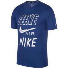 10%OFFクーポン対象商品 (セール)NIKE(ナイキ)ランニング メンズ半袖Tシャツ ナイキ ブリーズ ラン GX S/S トップ AJ7585-438 メンズ インディゴフォース/ホワイト/(リフレクトシルバー) クーポンコード:KZUZN2T