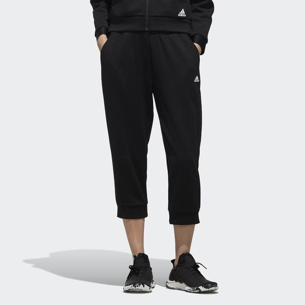 (セール)adidas(アディダス)レディーススポーツウェア ウォームアップハーフパンツ W MH ワッフル クロップド パンツ FTK42 DV0711 レディース ブラック