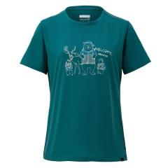 Marmot(マーモット)トレッキング アウトドア 半袖Tシャツ WS FUNNY ANIMALS H/S CREW TOWNJA58 LAK レディース LAK