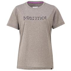 Marmot(マーモット)トレッキング アウトドア 半袖Tシャツ WS FLOWER LOGO H/S CREW TOWNJA63 GYM レディース GYM