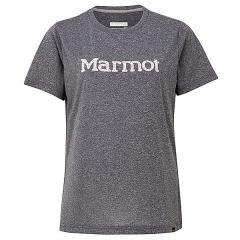Marmot(マーモット)トレッキング アウトドア 半袖Tシャツ WS FLOWER LOGO H/S CREW TOWNJA63 BKM レディース BKM