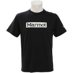 Marmot(マーモット)トレッキング アウトドア 半袖Tシャツ MARMOT LOGO H/S CREW TOMNJA42MG BK メンズ BK