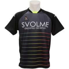 (セール)SVOLME(スボルメ) フットサル 半袖プラクティスシャツ ボーダーTRトップ 1191-22400 BLACK