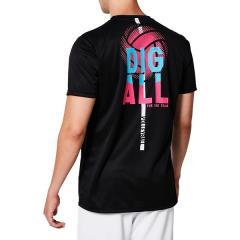 (セール)ASICS(アシックス)バレーボール 半袖Tシャツ シヨートスリーブトツプ 2053A046.001 Pブラツク_C
