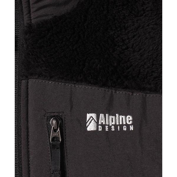 10%OFFクーポン対象商品 (セール)Alpine DESIGN(アルパインデザイン)トレッキング アウトドア ベスト ボアフリースベスト AD-F19-014-002 BLK メンズ ブラック クーポンコード:KZUZN2T