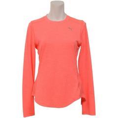 PUMA(プーマ)ランニング レディース長袖Tシャツ FAVORITE イグナイト LS Tシャツ 51877502 レディース ピンク アラート ヘザー