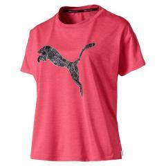 PUMA(プーマ)ランニング レディース半袖Tシャツ LAST LAP ロゴ SS Tシャツ 51881402 レディース ピンク アラート