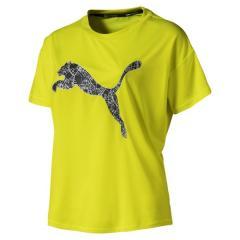 PUMA(プーマ)ランニング レディース半袖Tシャツ LAST LAP ロゴ SS Tシャツ 51881406 レディース イエロー アラート