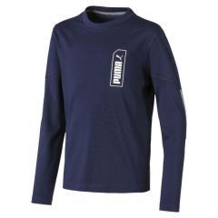 PUMA(プーマ)ジュニアスポーツウェア Tシャツ NU-TILITY LS Tシャツ 58097306 ボーイズ ピーコート