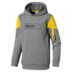 PUMA(プーマ)ジュニアスポーツウェア スウェット NU-TILITY フーディー 58098403 ボーイズ ミディアム グレー ヘザー