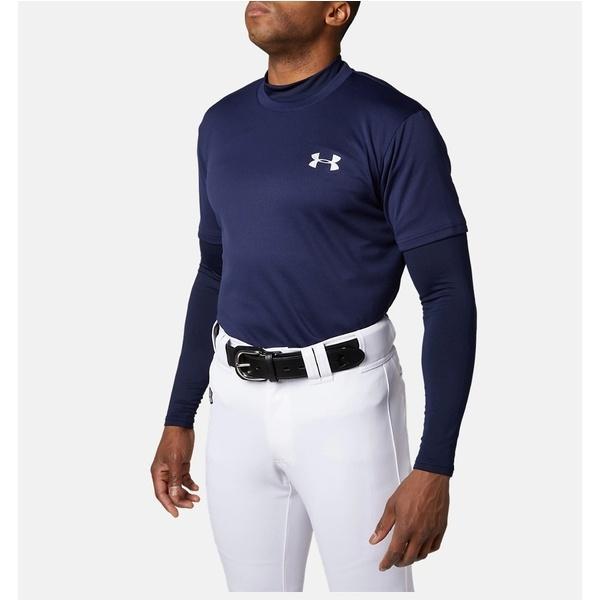 (セール)UNDER ARMOUR(アンダーアーマー)野球 半袖Tシャツ 19F UA BIG LOGO BASEBALL SHIRT 1346887 410 メンズ 410