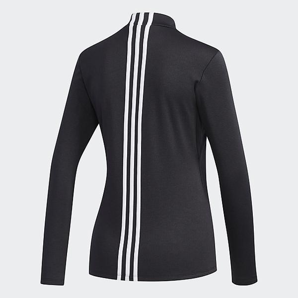 15%OFFクーポン対象商品 (送料無料)adidas(アディダス)ゴルフ レディース長袖ポロ 長袖ハイネック CLIMAWARM エンブレム 長袖 モックネックシャツ FYO36-ED2039 レディース ブラック クーポンコード:CKJNNWW