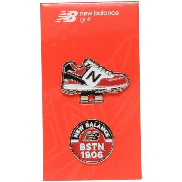 New Balance(ニューバランス)ゴルフ ゴルフ用品アクセサリー U 定番 ロゴ X フットウエア クリップマーカー MT 012-9984032-100 メンズ レッド