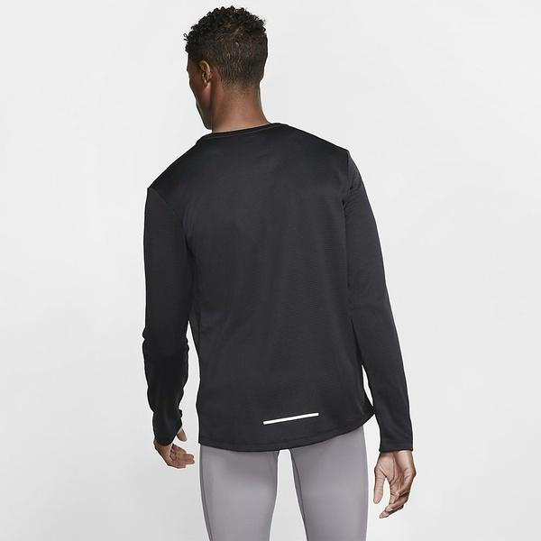 NIKE(ナイキ)ランニング メンズ長袖Tシャツ ナイキ ペーサー クルー トップ BV4754-010 メンズ ブラック/ブラック/(リフレクトシルバー)