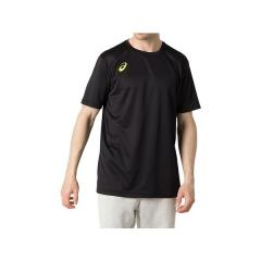 (セール)ASICS(アシックス)バレーボール 半袖プラクティスシャツ グラフイツクSSトツプ 2053A058.002 Pブラツク/SY