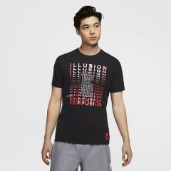 (セール)NIKE(ナイキ)バスケットボール メンズ プラクティスシャツ AS KI M NK DRY TEE LOGO CD1323-011 メンズ ブラック/(ユニバーシティレッド)