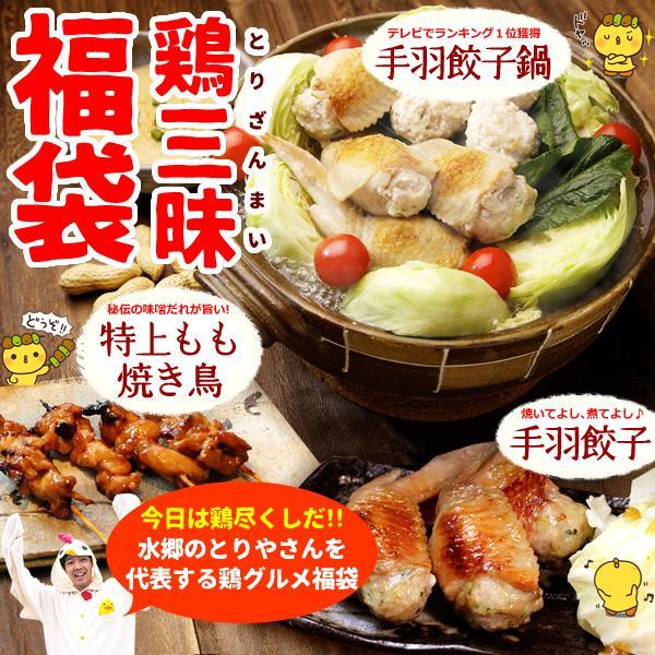【送料無料】ロハコ限定《 鶏三昧 》福袋 ~手羽餃子・手羽餃子鍋・特上もも焼き鳥~