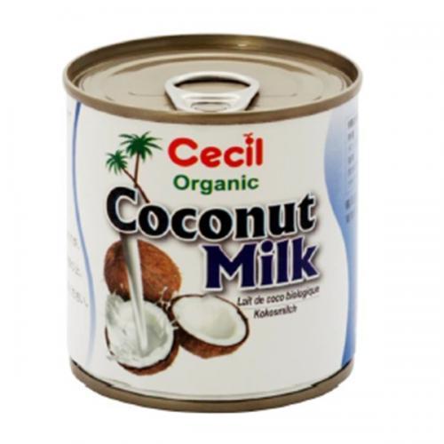 【送料無料】セシル オーガニックココナッツミルク 200ml×12缶