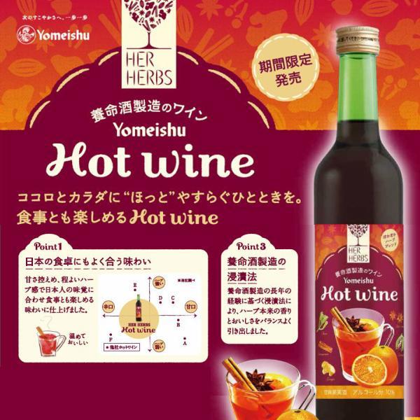 【送料無料】養命酒製造 HER HERBS Hot wine 500ml×3本(ホットワイン)