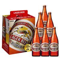 【送料無料】キリンビール キリンラガービール 大びん 633ml×6本セット