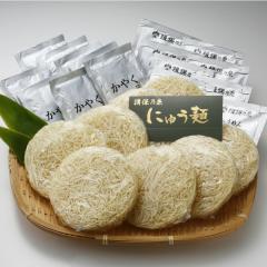 【送料無料】揖保乃糸 にゅう麺 スープ&かやく付き 40g×8食 (賞味期限2018年5月)