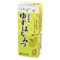 【送料無料】マルサンアイ ことりっぷ 豆乳飲料 ゆずはちみつ 200ml×24本