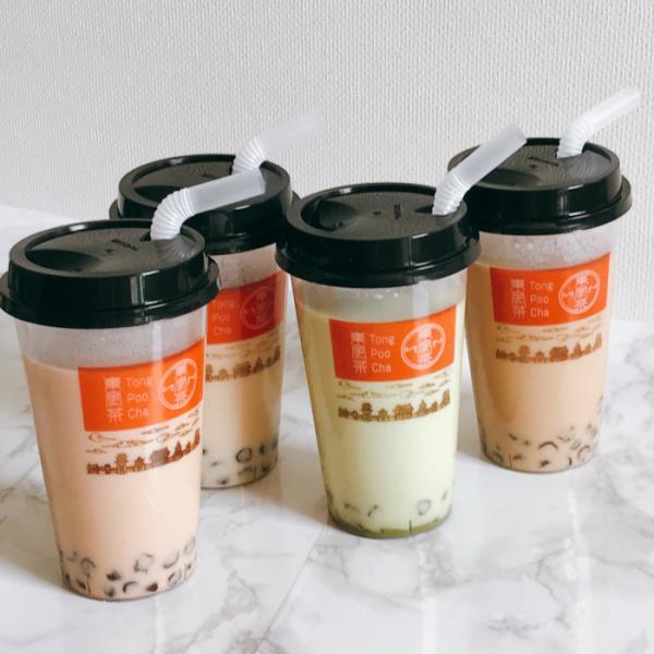 【送料無料】東風茶 タピオカミルクティー4種セット(紅茶・烏龍・ジャスミン・抹茶)