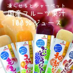 【送料無料】ゴールドパック 凍らせておいしい 国産100%フルーツジュース 5種×各4本セット(合計20本)