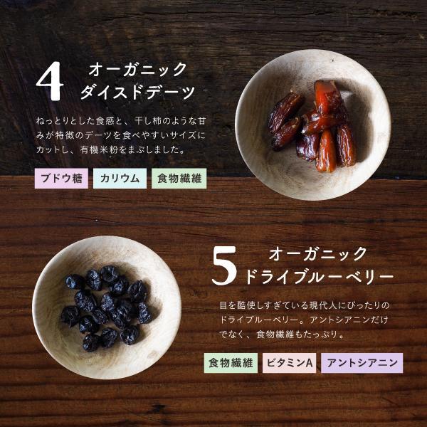 【送料無料】ななつのドライフルーツミックス 有機オーガニック原料100%で仕上げた7種類の贅沢ドライフルーツ 着色料・香料・添加物不使用 (メール便可)