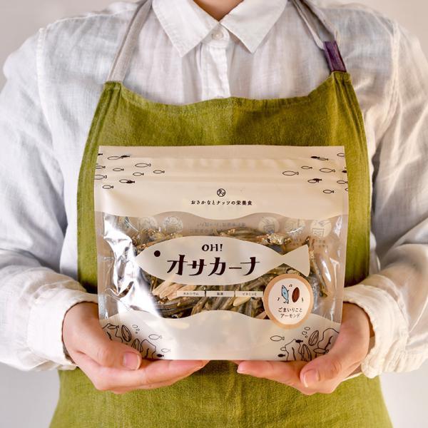 【送料無料】OH!オサカーナ 100g シーフードミックス味 小魚 片口イワシ アーモンド ポイント消化 おやつ おつまみ お菓子 <メール便可>