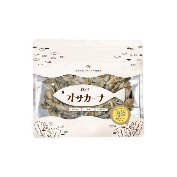 【送料無料】OH!オサカーナ 100g チーズミックス味 乾燥プロセスチーズ 小魚 片口イワシ アーモンド ポイント消化 おやつ おつまみ お菓子 <メール便可>