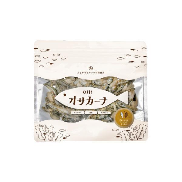 【送料無料】OH!オサカーナ 100g いりこ&アーモンド味 小魚 片口イワシ アーモンド ごま ポイント消化 おやつ おつまみ お菓子 <メール便可>