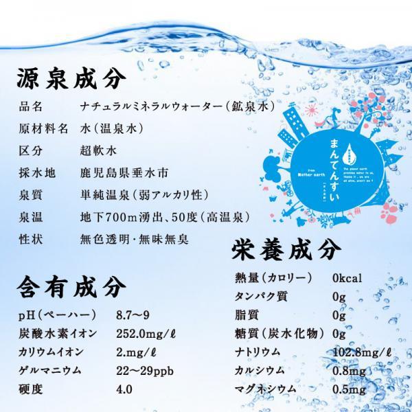 【送料無料】ミネラルウォーター まん天粋 500ml×24本 温泉水 天然水 まんてんすい 軟水 ミネラル マイナスイオン アルカリ還元水 水 <北海道・東北は追加送料がかかります。北海道480円・東北地方300円><他の商品と同梱できません。>