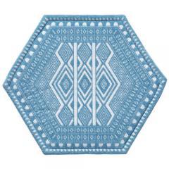 HONEYCOMB PAD 45x35 [FOLK] ブルー
