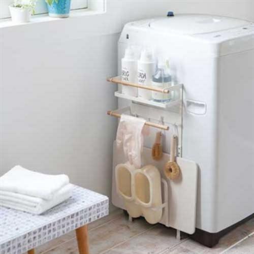 tosca (トスカ) 洗濯機横マグネット収納ラック WH