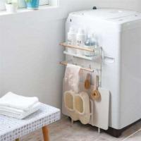 【Tポイント10倍】 tosca (トスカ) 洗濯機横マグネット収納ラック WH 【インテMP_GP】