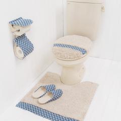 クラフト トイレマット 北欧 ブルー