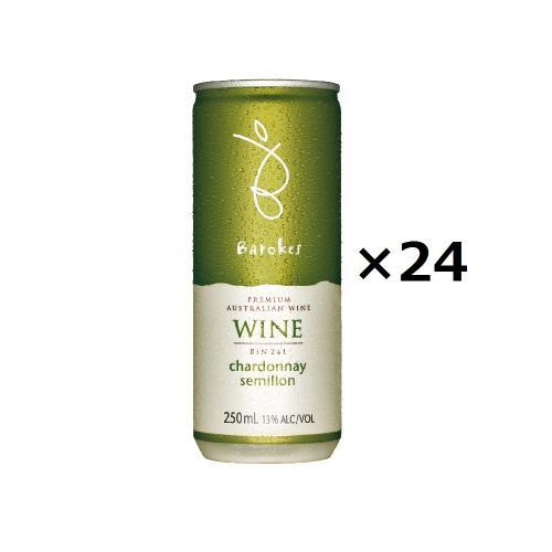 【送料無料】バロークス プレミアム 缶ワイン 白 24本入り