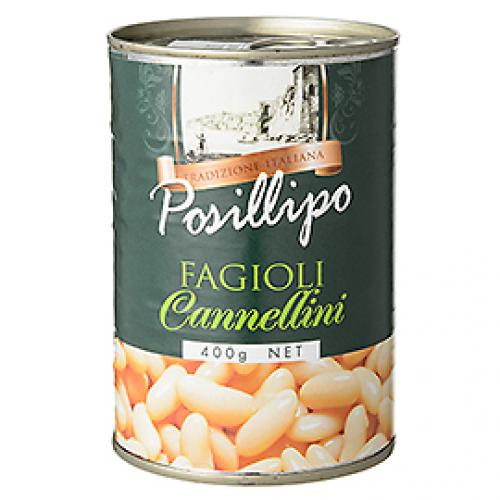 ポジリポ カンネッリーニ(白いんげん豆)水煮 / 400g TOMIZ(富澤商店) イタリアンと洋風食材 洋食材